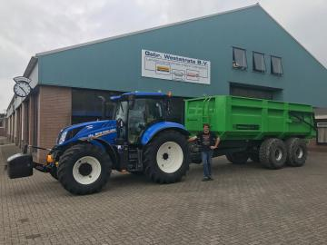 New Holland T6.180 DynamicCommand voor Mts. Blok uit Rilland
